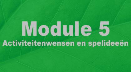 Module 5 - nog niet beschikbaar