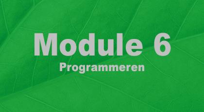 Module 6 - nog niet beschikbaar