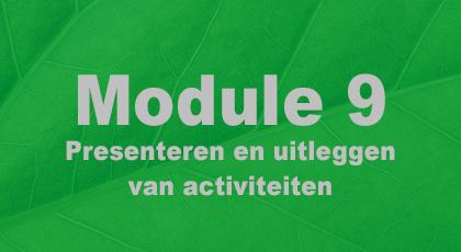 Module 9 - nog niet beschikbaar